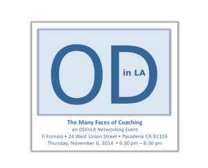 """Plus Delta's CEO Joins ODinLA """"Many Faces of Coaching"""" Panel Presentation on Thur Nov 6th"""